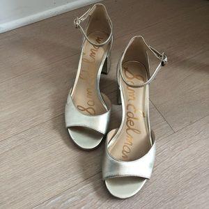 Sam Edelman Women's Gold Block Heels